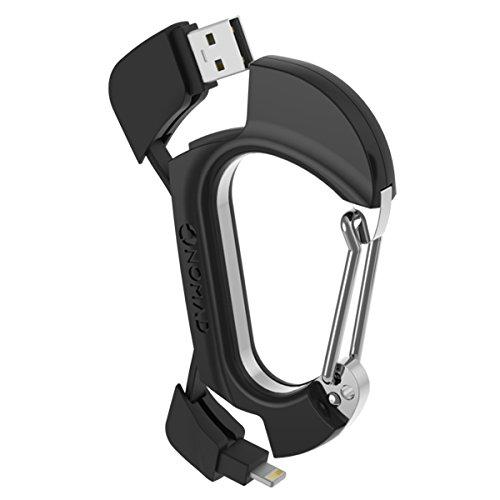 Nomadclip USB-Ladekabel Karabiner Clip